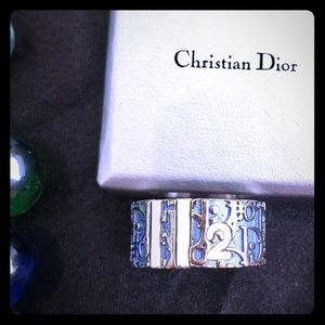 Christian Dior blue ring